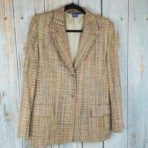 Austin Reed Jackets Coats Vtg Austin Reed 0 Silk Tweed Blazer Poshmark